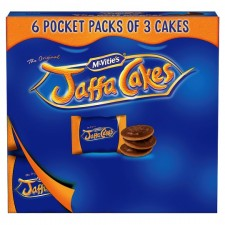 McVities Jaffa Cakes Pocket Packs 6 x 3 Pack
