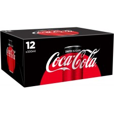 Coca Cola Zero 12x330ml Cans