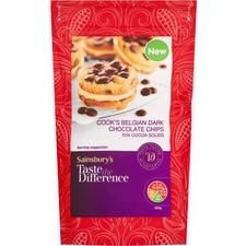 Sainsburys Taste the Difference Cooks Belgian Dark Chocolate Chips 150g