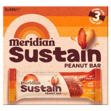 Meridian Sustain Peanut Bar 3 x 40g pack