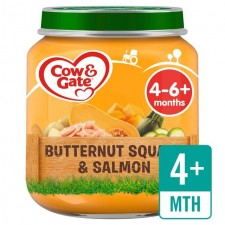 Cow And Gate 4 Months Butternut Squash Salmon and Courgette Jar 125g