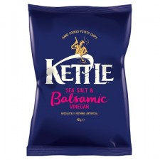 Kettle Chips Sea Salt And Balsamic Vinegar Crisps 40g