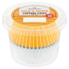 Morrisons Create A Cake Silver and Gold Foil Cupcake Cases 30 per pack