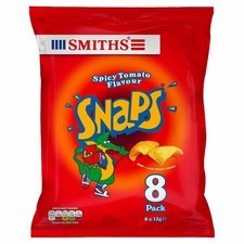 Smiths Snaps Spicy Tomato Snacks 8 x 13g