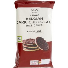 Marks and Spencer Belgian Dark Chocolate Mini corn and Rice Cakes 5 x 25g