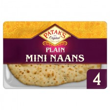 Pataks Naans Plain Mini 4 Pack