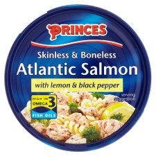 Princes Atlantic Salmon Steak Lemon Black Pepper 160g