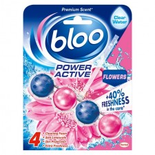 Bloo Power Active Fresh Flowers Toilet Rim Block 50g