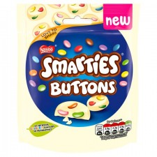 Nestle Smarties Buttons White Chocolate 85G