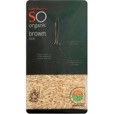 Sainsburys Brown Rice Organic 500g