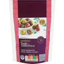 Sainsburys Mixed Marinated Greek Olives Taste the Difference 200g