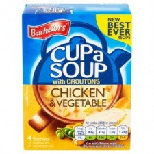 Retail Pack Batchelors Cup A Soup with Croutons Chicken And Vegetable 9 x 4 Sachet Packs