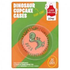 Cake Decor Dinosaur Cupcake Cases 25 per pack