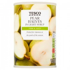 Tesco Pear Halves In Syrup 410g