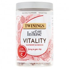 Twinings Cold Infuse Vitality Raspberry and Hibiscus 12 Infusers