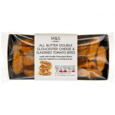Marks and Spencer All Butter Double Gloucester Cheese and Sundried Tomato Bites 100g