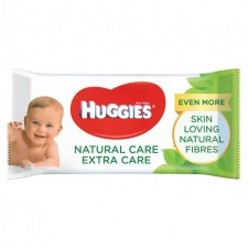 Huggies Natural Care Extra Care with Aloe Baby Wipes 56 per pack