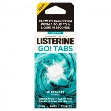 Listerine Go! Tabs Mint Mouthwash Tablets 16 Pack