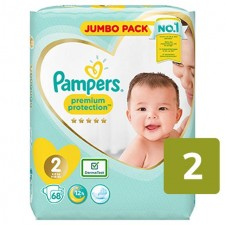 Pampers Premium Protection Nappies Size 2 x 68
