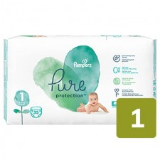 Pampers Pure Protection Nappies Size 1 x 35