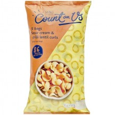 Marks and Spencer Sour Cream and Chilli Lentil Curls 5 x 22g