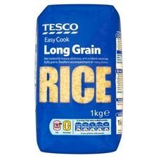 Tesco Easy Cook Long Grain Rice 1Kg