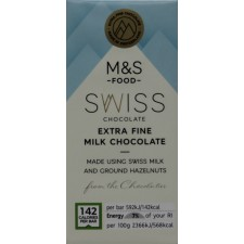 Marks and Spencer Swiss Extra Fine Milk Chocolate 25g