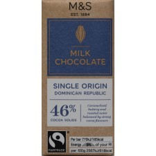 Marks and Spencer Dominican Republic 46% Milk Chocolate 30g