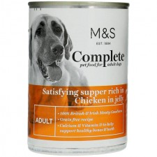 Marks and Spencer Complete Satisfying Supper Rich in Chicken in Jelly Dog Food 400g