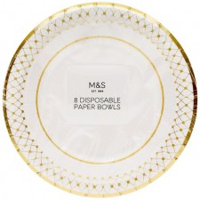 Marks and Spencer Disposable Paper Bowls 8 pack