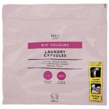 Marks and Spencer Bio Colours Laundry Capsules 12 pack