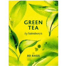 Sainsburys Green Tea Fairtrade 80 Teabags