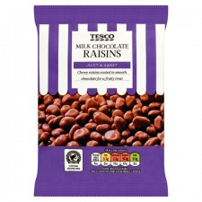 Tesco Milk Chocolate Coated Raisins 200g