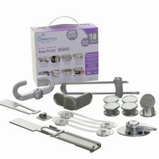 Dreambaby Style Easy Fit Silver 18 Piece Boxed Safety Kit