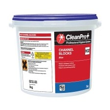 Clean Pro Professional Hygiene Systems Channel Blocks Blue 3kg