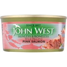 John West Wild Pacific Pink Salmon Skinless and Boneless 170g