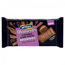 McVities Moments Double Chocolate Fudge Brownies 5 Pack