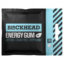 Blockhead Sugar Free Energy Gum Peppermint 10 per pack