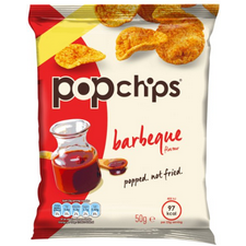 Retail Pack Popchips Barbecue Popped Potato Chips 16 x 50g