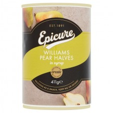 Epicure Williams Pear Halves in Syrup 411g