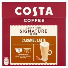 Costa Signature Blend Caramel Latte By Nescafe Dolce Gusto Pods 16 per pack