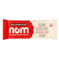 Nom Cacao and Raspberry Organic Oat Bar 40g