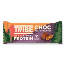 Tribe Vegan Protein Chocolate and Peanut Butter Bar 50g
