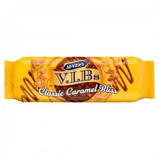 Retail Pack McVities VIBs Classic Caramel Bliss Milk Chocolate Digestive Biscuits 12 x 250g