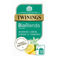 Twinings Bioblends Lemon Ginger and Turmeric Tea with Friendly Bacteria 18 per pack