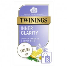 Twinings Inner Clarity Lemon Balm and Camomile Tea with Tulsi 18 per pack