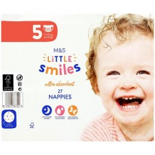 Marks and Spencer Mini Junior Plus Nappies Size 5 - 27 per pack