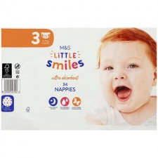 Marks and Spencer Baby Nappies Size 3 - 34 per pack