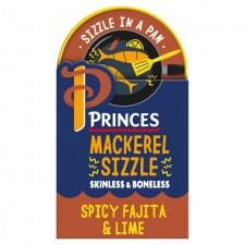 Princes Mackerel Spicy Fajita and Lime Sizzle in a Pan 160g