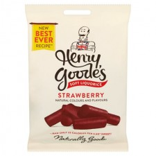 Henry Goodes Soft Strawberry Flavour Liquorice 200g